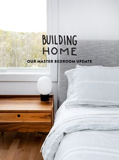 Building Home: Our Master Bedroom Updated Hotel Sheets, Ikea Stool, Linen Duvet, Queen Mattress, Sheet Sets, Bed Frame, Girl Room, Guest Room, Building A House
