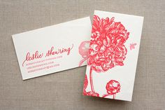 Floral calligraphy business cards | Oh So Beautiful Paper