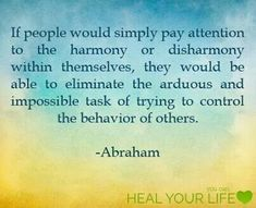 Stop trying to control others