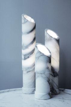 Les Ateliers Courbet Michel Amar Paris Light Sconce Table Lamp Applique Marble Cloud Onyx