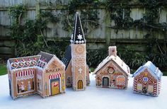 Wendy's quilts and more: Gingerbread Village