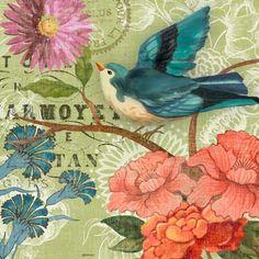 French Bird Green by Jennifer Brinley | Ruth Levison Design