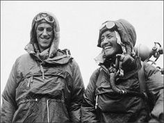 1953: Sir Edmund Hillary and Tenzing Norgay successfully climbed Mt. Everest; the first to do so