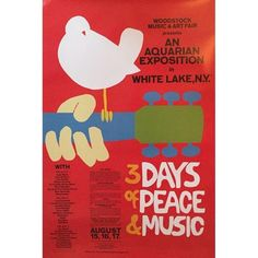 3 Days of Peace and Music Woodstock Concert Poster (£77) ❤ liked on Polyvore featuring home, home decor, wall art, posters, outside wall art, new york wall art, rolling stones poster, outdoor wall art and hendrix poster