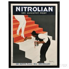 Vintage Poster Original Leonetto Cappiello Advertising Poster - A large original gouache poster for Nitrolian paint, linen backed and framed, by Leonetto Cappiello, circa Retro Poster, Poster Art, Art Deco Posters, Poster Prints, Art Prints, Free Canvas, Wood Canvas, Stock Art, Antique Maps