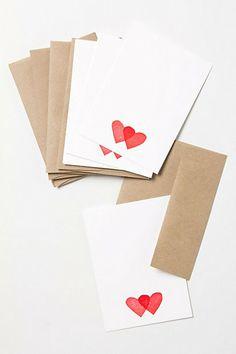 'Tabletop Made' Valentine's Cards by Karis Van Noord Schroeder- sold at Anthro!  So cute.