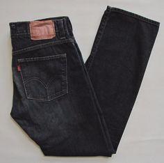 Levi's Mens 511 Skinny Jeans 33 30 Dark Indigo Dirty wash 100% cotton Slim Denim #Levis #SlimSkinny