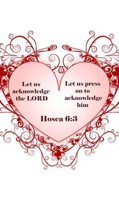 Hosea 6:3