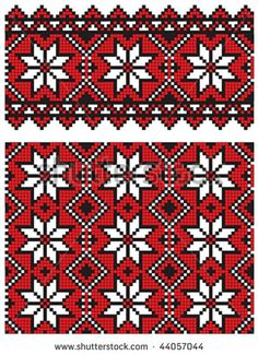 украинский рисунок вышивки
