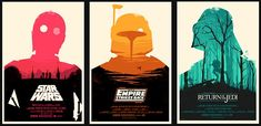 Olly Moss' Star Wars trilogy posters from Mondo