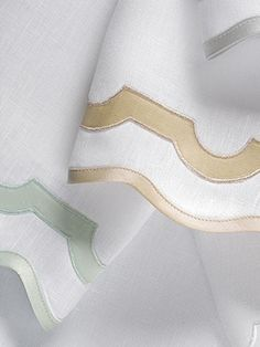 Finish your powder room with Matouk's 100% linen and applique guest towels by Matouk! 20% off today for Memorial day!