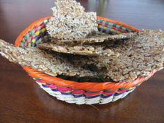 Seed Crackers or Fröknäcke in Swedish – The Travelling Chopsticks Low Carb Crackers, Gluten Free Crackers, Primal Recipes, Low Carb Recipes, Snack Recipes, Banting Recipes, Low Carb Bread Substitute, Low Carb Pizza Base, Seed Crackers Recipe