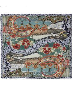 Mary Katrantzou Multicolour Winding River Silk Scarf