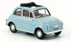 Fiat 500 D blue Vitesse. Fiat 500 D blue miniature 1/18