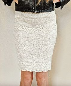 Elizabeth Taylor's Favorite Lace Skirt - Elizabeth Taylor's Favorite Lace Skirt is undoubtedly a project you'll want to try. If not for the ease of this simple skirt pattern, make a skirt like this for its classic style. Create this vintage look from merely a thrifted tee shirt, an elastic band, and your sewing skills.