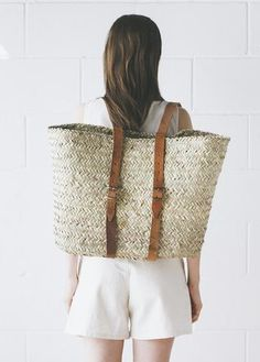 C + L Finds - Handwoven French Market Backpack Sturdy backpack, handwoven from date palm leaf Double-woven top edge for sturdy finish Perfect for bike rides or