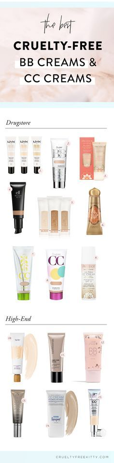 Best cruelty free BB and CC creams