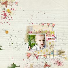 Another Inspirational Scrapbook creation Vintage styled which appears old and faded, as if very old, worn and tattered