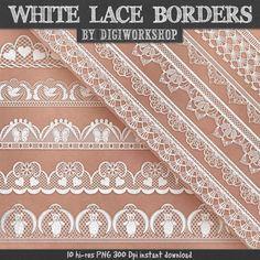 Lace borders clip art White Lace borders clipart от DigiWorkshop #clipart #illustration #scrapbooking #creative #art #scrapbook #Lace borders