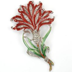Trifari-039-Alfred-Philippe-039-Giant-Pave-and-Enamel-Red-Carnation-Pin-Clip