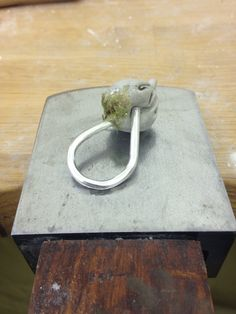 Silver and Cement ring