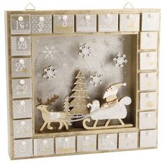 SNOWY SCENE ADVENT DRAWERS, Oak Room, 40 pounds UK