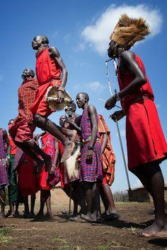 Maasai Warriors Dance, Kenya
