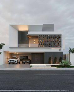 Modern Small House Design, Modern Exterior House Designs, Modern House Facades, Modern Villa Design, Bungalow House Design, Dream House Exterior, Modern Architecture House, Modern Bungalow Exterior, Latest House Designs