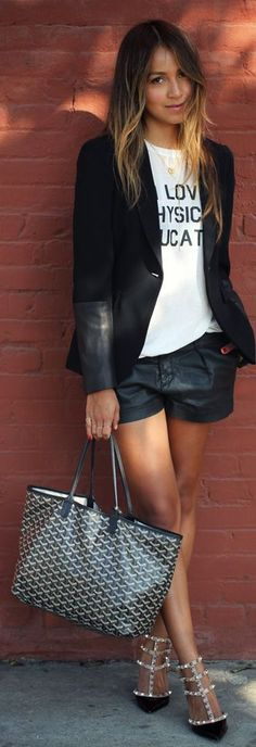 casual with refined shoes + blazer