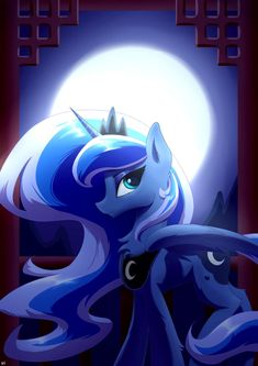 Luna and the moon by Richard-Skip on DeviantArt Princess Twilight Sparkle, Moon Princess, Royal Princess, Celestia And Luna, Princess Celestia, My Little Pony Comic, My Little Pony Pictures, Mlp Funny Memes, Imagenes My Little Pony