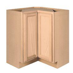 project source w x h x d unfinished browntan oak lazy susan base cabinet