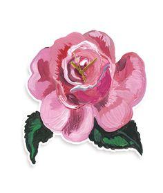 Pendule Clock Rose de Nathalie Lété pour Domestic