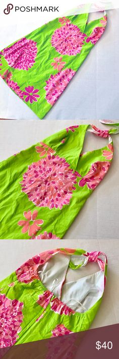 Lilly Pulitzer Halter Dress size 8 lk NEW This dress was worn once. It is a size 8 and in perfect condition. Lilly Pulitzer Dresses