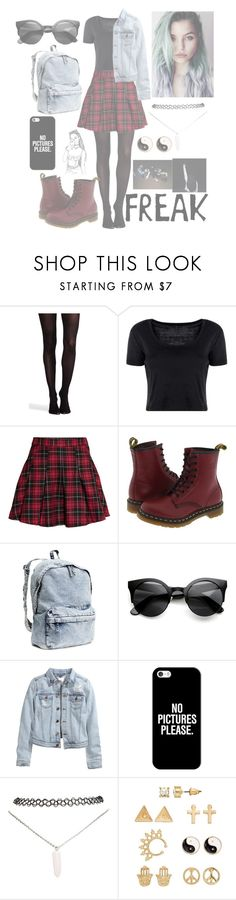 """""""Grunge"""" by my-happy-little-pill ❤ liked on Polyvore featuring SPANX, Boohoo, H&M, Dr. Martens, Casetify, Wet Seal and Mudd"""