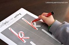 Great for kids who are at that stage where they're learning to write their letters. Free handwriting printable for rainbow writing {k}. Encourages kinesthetic awareness and memory, which is required for good handwriting.