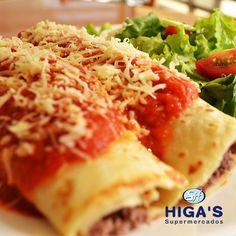 Corre que tem receita nova do Cheff Higa's!  Aprenda a fazer uma deliciosa receita de Panqueca de Carne ;) Confira: http://www.supermercadohigas.com.br/post/35-panqueca-de-carne--