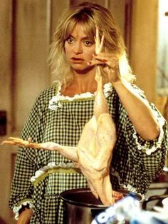 "Goldie Hawn. Here she is as Annie Proffitt/Joanna Stayton in Overboard, the movie I watch every time I am home sick. My favorite quotes: ""I used to handle and prepare RAW food...? This is all just so unfamiliar to me..."" & ""A falsetto child?"""