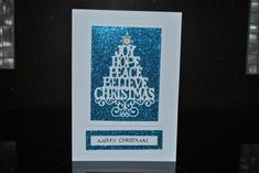 The tree is a Sue Wilson called Christmas Tree Greetings. Die Cut Christmas Cards, Xmas Cards, Holiday Cards, Greeting Cards, The Best Of Christmas, Christmas 2017, Poinsettia Cards, Xmas Tree, Christmas Trees