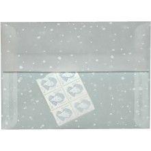 snow envelopes - translucent A7 5-1/4 x 7-1/4