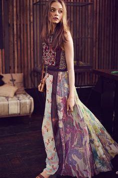 Wilderflora Patchwork Maxi Dress
