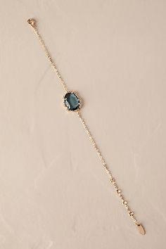 Wedding Jewelry Serefina Azzurro Bracelet - Description A stunning blue stone is surrounded by dainty crystals on a slim brass chain. By Serefina Style Fancy Jewellery, Stylish Jewelry, Simple Jewelry, Dainty Jewelry, Cute Jewelry, Fashion Jewelry, Bohemian Jewelry, Bridesmaid Jewelry, Wedding Jewelry