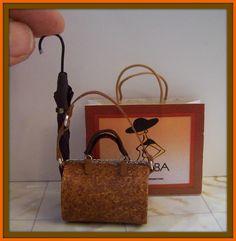 Travel bag dollhouse scale 112 by DesignBA on Etsy, $32.00