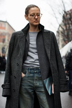 On the Street…Shades of Grey, Milan The Sartorialist