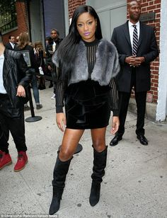 Posed: Keke Palmer paused for photos as she arrived to take part in the Scream Queens pane...