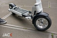 LEEV mobility is raising funds for JAC< electric scooter on Kickstarter! JAC< is a compact, foldable electric powered scooter. JAC< is a zero emission personal transporter for urban use. Electric Bicycle, Electric Scooter, Electric Cars, Electric Vehicle, Jet Packs, Triumph Motorcycles, Mopar, Ducati, Skateboard