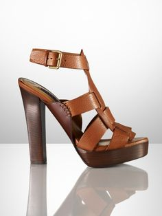 Kadence Vachetta Sandal - Ralph Lauren Collection Collection Shoes - RalphLauren.com