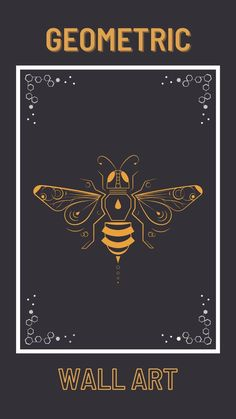 Geometric Wall Art Animals, Geometrical Animal Illustration, Bee Printable Art, Digital Bees, Symmetry in Nature, Symmetrical Home Decor Geometric Wall Art Bee is digital art intended as a printable gift idea that shows wildlife art This bee artwork is perfect honey bee decor (insect wall decor) for making the home more bee-friendly. Digital bee is Instant Downloadable to print your own and make nature lover gift, bee lover gift, beekeeper gift, and insect lover gift. Quote Prints, Wall Art Prints, Bee Illustration, Bee Friendly, Amazing Gifts, Geometric Wall Art, Gifts For Nature Lovers, Wildlife Art, Printable Art