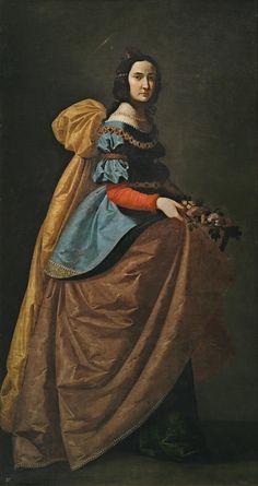 Elizabeth of Portugal St. Elizabeth of Portugal 1640 (oil on canvas) by Zurbaran, Francisco de cm;