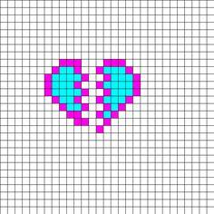 Best Friend Bf Gf Charms Perler Bead Pattern   Bead Sprites   Misc Fuse Bead Patterns