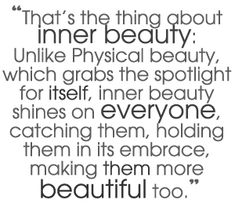 Inner beauty embraces others...making them more beautiful in the process.